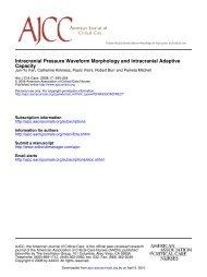 Intracranial Pressure Waveform Morphology and ... - ferronfred.eu