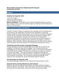 Syllabus Spanish 1010.pdf - Roane State Community College