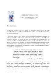 Mise en contexte GUIDE DE MOBILISATION - Réseau québécois d ...
