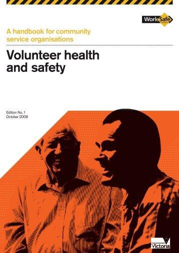 Volunteer health and safety - WorkSafe Victoria
