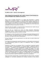 Enjeux stratégiques du développement des cabinets d ... - Nomination