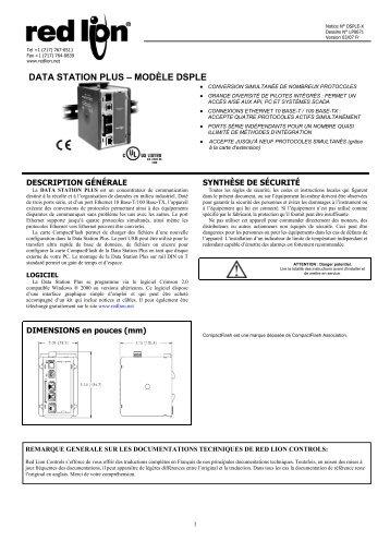 data station plus – modèle dsple 696kb - Red Lion Controls