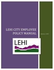 Employee Policy Manual - Lehi City