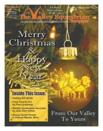 Nov/December 2011 - The Valley Equestrian Newspaper