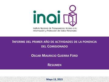 1er Informe de actividades - resumen