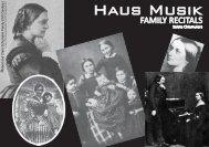 Folder Haus Musik Family Recitals