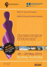 ISGE 19th Annual Congress in conjunction with the AGES XX ...