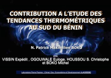 N. Patrice Maximilien BOKO - Impetus