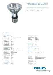 Philips CDM-R 35W/830 PAR20L10 - Leuchtstark