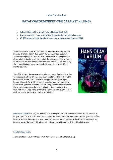 Please download English presentation, reviews ... - Cappelen Damm