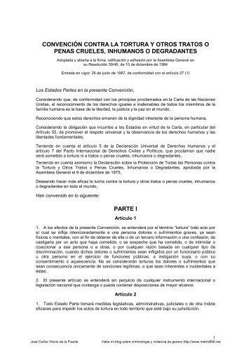 Convención contra la Tortura y Otros Tratos o Penas ... - Matrix666