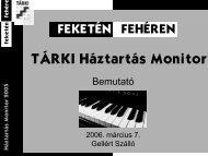 TÁRKI Háztartás Monitor 2005 bemutató