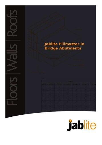 Jablite Fillmaster in Bridge Abutments