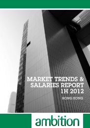 MARKET TRENDS & SALARIES REPORT 1H 2012 - CTgoodjobs.hk
