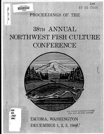 1987 Proceedings - StreamNet Regional Library