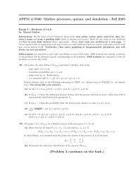 APPM 4/5560: Markov processes, queues, and simulation ... - cribME!