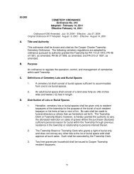 63.000 CEMETERY ORDINANCE Ordinance No ... - Cooper Township