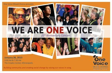 WE ARE ONE VOICE - One Voice Mixed Chorus
