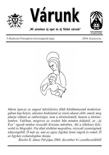 Karácsony (PDF - 393 KB) - Mátyás-templom