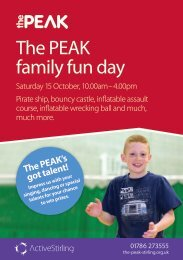 The PEAK family fun day