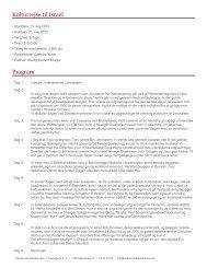 Kulturrejse til Israel Program - Akademisk Rejsebureau