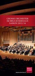 Folder Große Orchester zum Download als PDF - Brucknerhaus