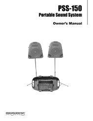 PSS-150 Portable Sound System - Nady
