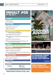 INHALT #08 - Website Boosting
