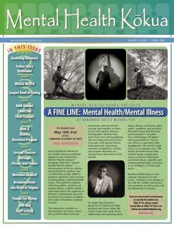A FINE LINE: Mental Health/Mental Illness - Mental Health Kokua
