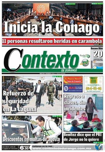 20/08/2013 - Contexto de Durango