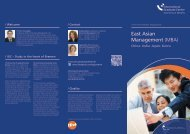 East Asian Management (MBA) - International Graduate Center