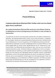 Presseerklärung - LIGA Rheinland-Pfalz