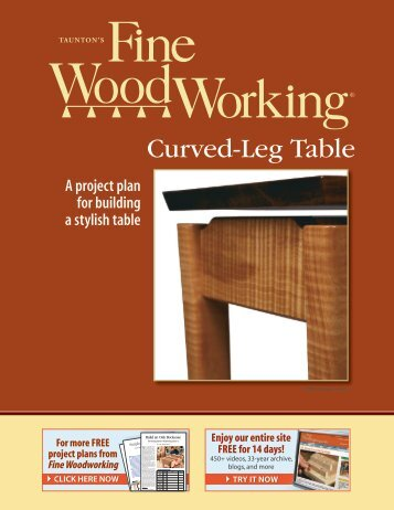 Curved-Leg Table - Fine Woodworking
