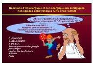 Les réactions d'hypersensibilité allergique et non allergique aux ...