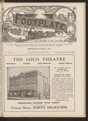 The Footplate: vol. 19, no. 9 (September-October, 1936)