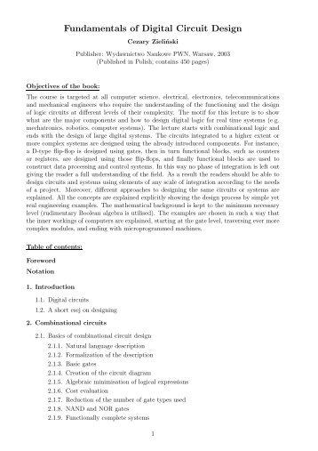 Fundamentals of Digital Circuit Design