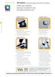 Bockleitern (Stehleitern) mit Rollen - FERESTA GmbH