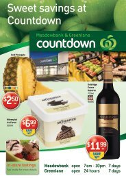 Sweet savings at Countdown