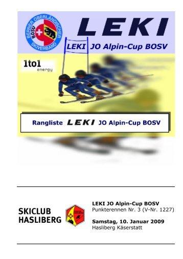 LEKI JO Alpin-Cup BOSV Punkterennen Nr. 3 (V ... - Skiclub Hasliberg