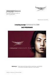 crossing europe crossing europe filmfestival linz 2008 DAS ...