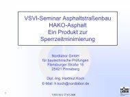 VSVI-Seminar Asphaltstraßenbau HAKO-Asphalt Ein ... - VSVI MV