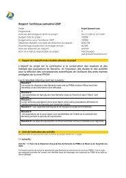Rapport Technique semestriel 2009 L'objectif du projet est la ...