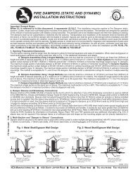 fire dampers (static and dynamic) installation instructions - NCA ...