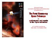 Riccardo Rando on behalf of the Fermi LAT ... - Villa Olmo - Infn