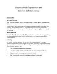 Download Collection Information - Portneuf Medical Center