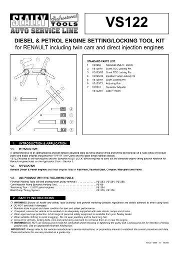 DIESEL & PETROL ENGINE SETTING/LOCKING TOOL KIT for ...