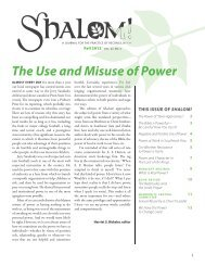 Fall 2012, The Use and Misuse of Power - Brethren in Christ Church
