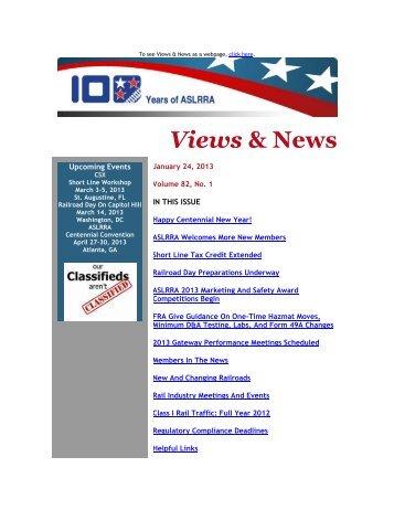 Views & News - American Short Line & Regional Railroad Association