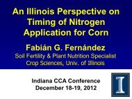An Illinois Perspective on Timing of Nitrogen Application for Corn