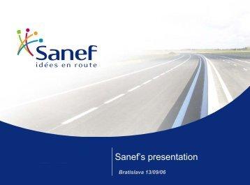 Sanef's presentation